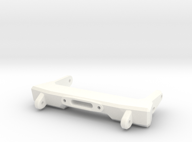 V1W: Front Comp Bumper 78mm in White Processed Versatile Plastic