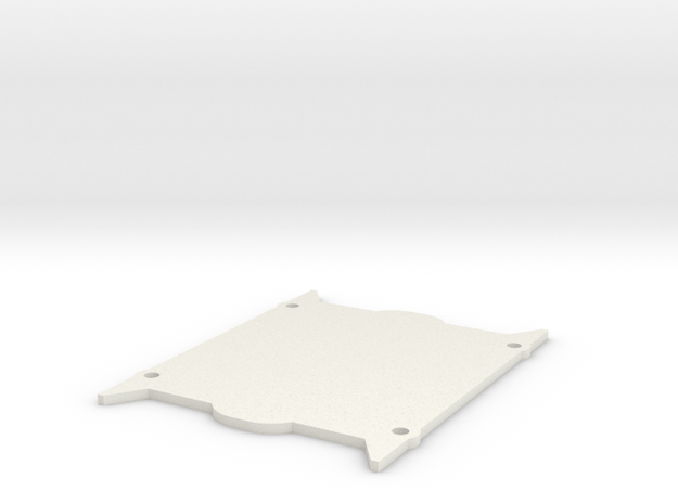 V1W: Universal Trans Drill Plate in White Natural Versatile Plastic