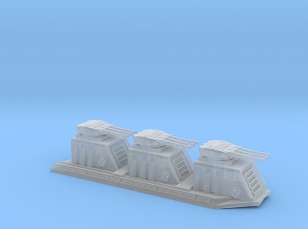 1/5000 Devastator Dorsal Turrets (single) in Smoothest Fine Detail Plastic