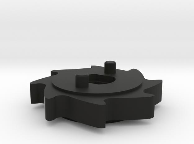 Blender gear +3mm in Black Natural Versatile Plastic