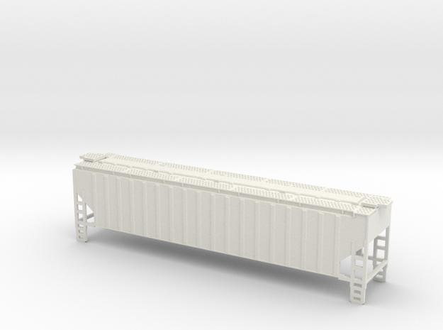 Z-Scale 3 Bay Hopper Shell in White Natural Versatile Plastic