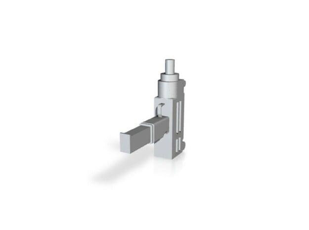 Machine Pistol 1 in White Natural Versatile Plastic