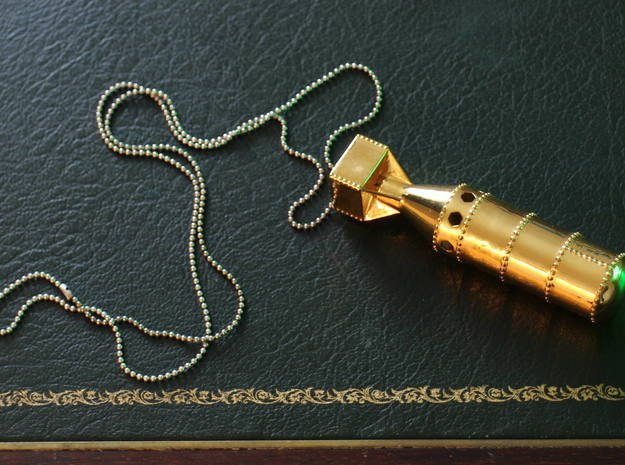 Little Boy Pendant in 14k Gold Plated Brass