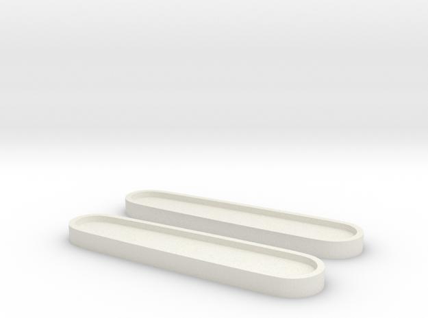 Victorinox 84 Scales Rohlinge Template in White Natural Versatile Plastic