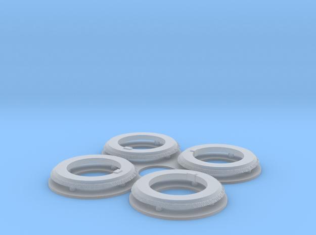 KV-1 ChKZ armour ring (4 pcs) in Smooth Fine Detail Plastic