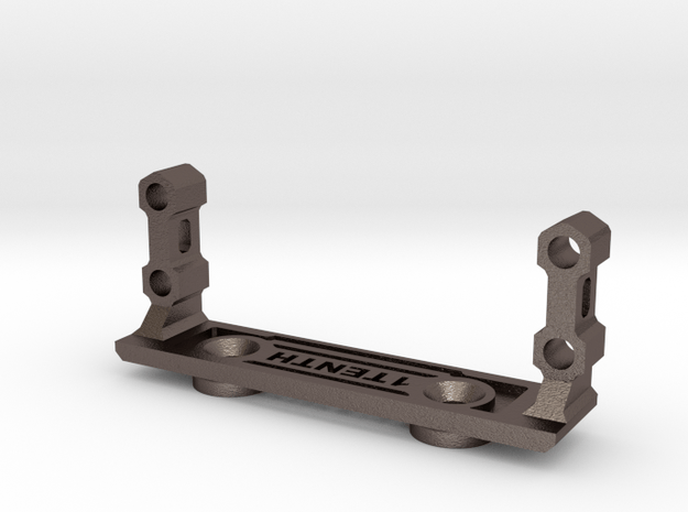 Metal Servo Mount V3 for Axial Capra in Polished Bronzed-Silver Steel