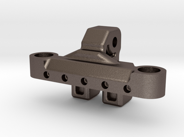 Metal Upper Link Riser for Axial AR60 in Polished Bronzed-Silver Steel
