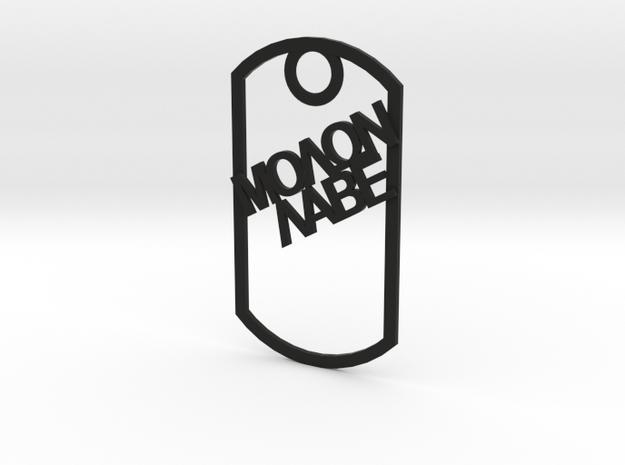 Molon Labe dog tag in Black Natural Versatile Plastic
