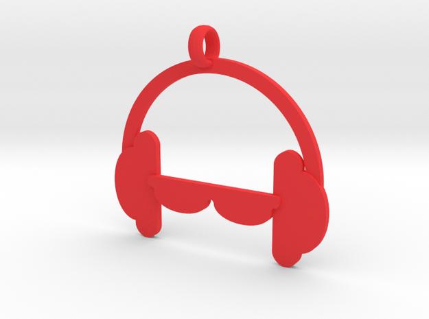 Headphones charm in Red Processed Versatile Plastic