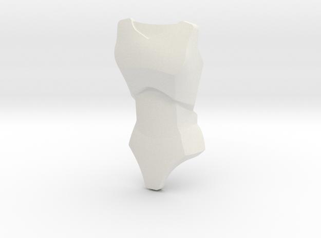 Large Figure Female Torso 26481   CCBS in White Natural Versatile Plastic