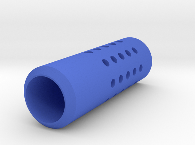HMP Type II Muzzle (150mm) for Nerf Modulus in Blue Processed Versatile Plastic