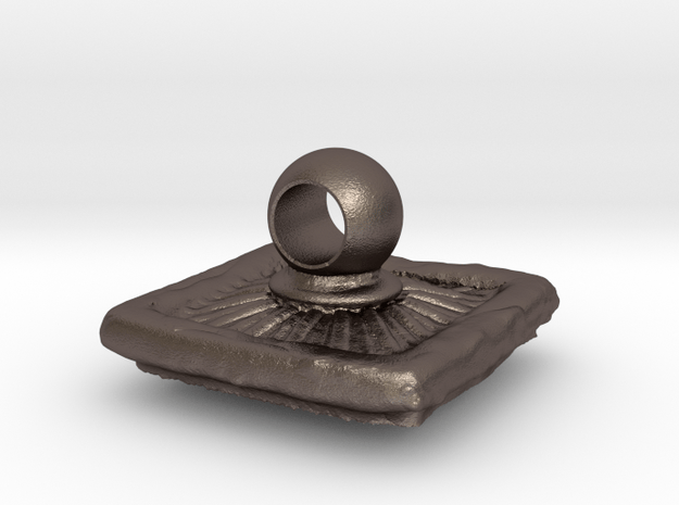 antique drawer knob in Polished Bronzed-Silver Steel