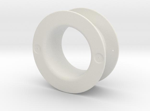 Hood Vent 2pcs in White Natural Versatile Plastic