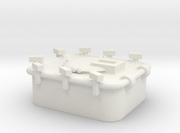 1/72 Scale 36 x 30 inch Hatch in White Natural Versatile Plastic