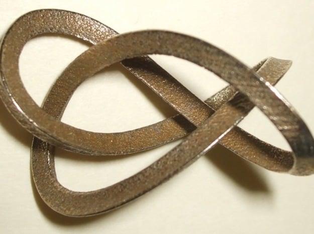 3-Sided Figure 8 Knot Pendant in Matte Bronzed-Silver Steel