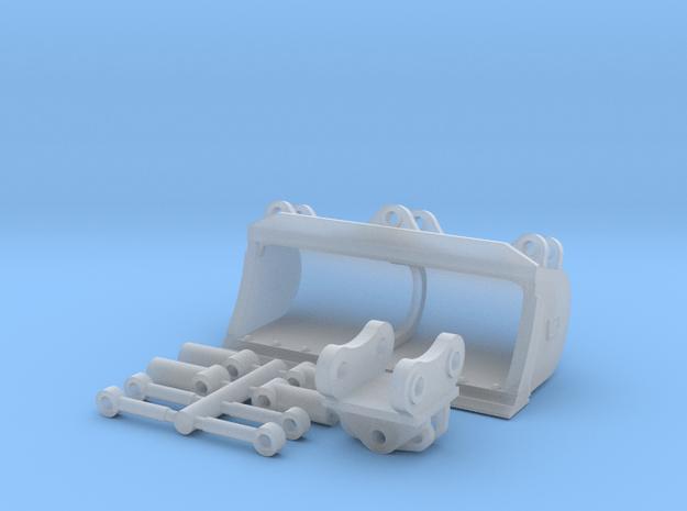"""1:50 60"""" Tilt grading bucket for Cat 308/309 in Smooth Fine Detail Plastic"""
