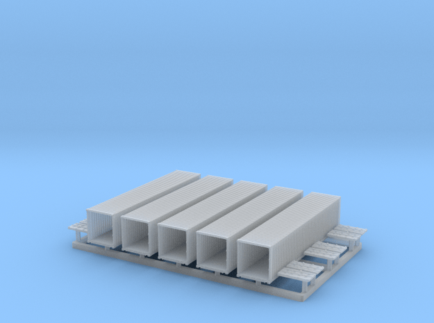 40' Shipping Container 1/350 in Smooth Fine Detail Plastic