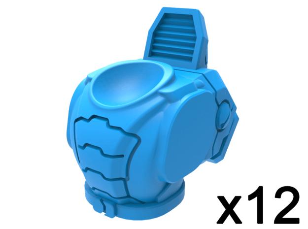 Infantry Torsos - Guardian Explorer x12 in Smooth Fine Detail Plastic