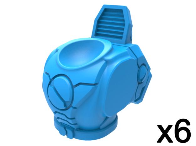 Infantry Torsos - Renegade Explorer x6 in Smooth Fine Detail Plastic