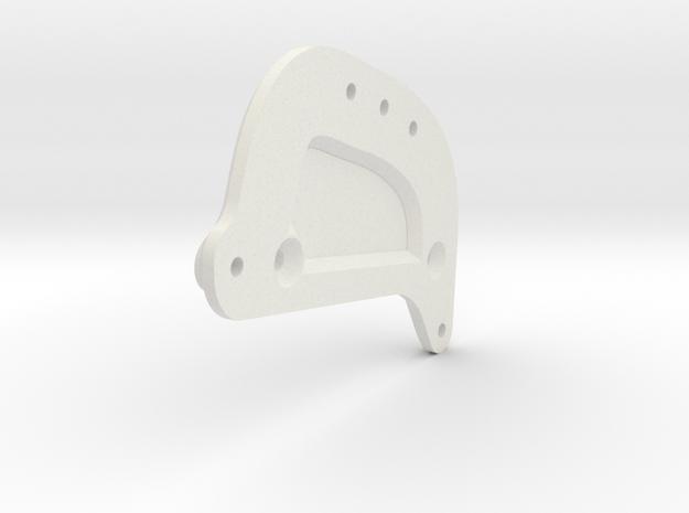 Pinch1 D Hoop 70mm in White Natural Versatile Plastic