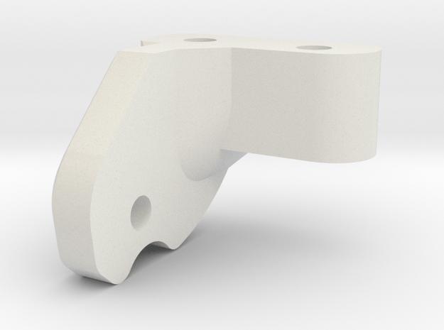Servo Mount Rear in White Natural Versatile Plastic