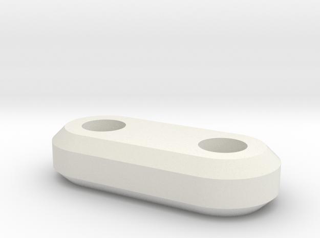 4mm spacer in White Natural Versatile Plastic