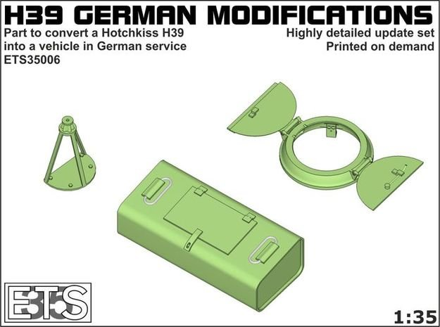 ETS35006 - German modifications for Hotchkiss (2) in Smooth Fine Detail Plastic