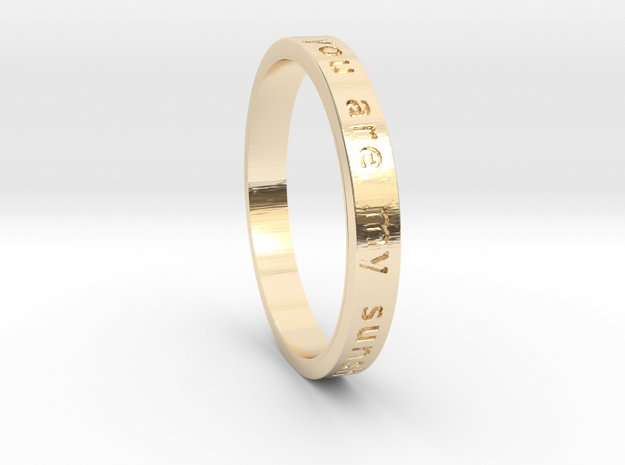 You are my Sunshine in 14K Yellow Gold: 6 / 51.5