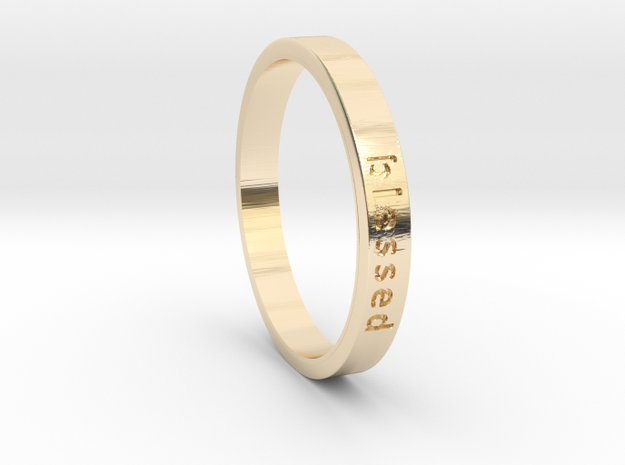 Blessed in 14k Gold Plated Brass: 6 / 51.5