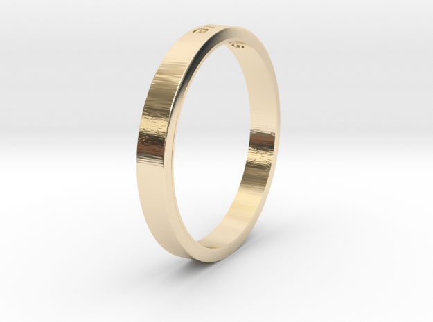 Love in 14K Yellow Gold: 6 / 51.5