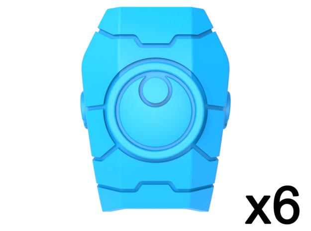 Commander Mech Geometric Pauldrons Tango 1 in Smooth Fine Detail Plastic