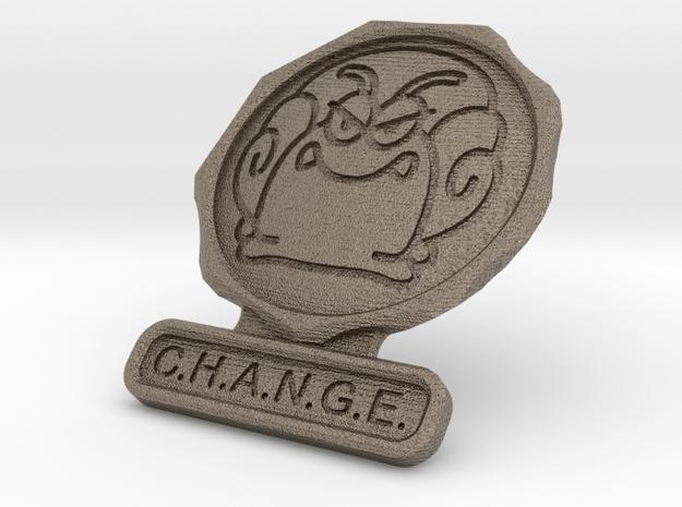 Agent of Change in Matte Bronzed-Silver Steel