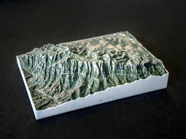 Montserrat, Catalonia, Spain, 1:50000 in Natural Full Color Sandstone