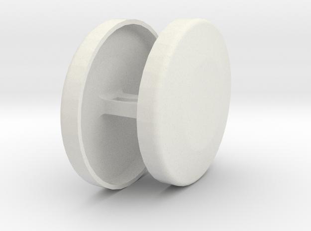Door Key Plug in White Natural Versatile Plastic
