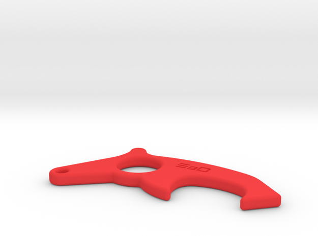 Don't Touch Anti-Virus Anti-Bacterial  Gripper in Red Processed Versatile Plastic