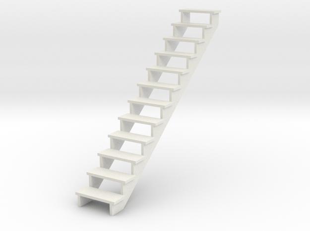 Miniature 1:48 Stairs in White Natural Versatile Plastic