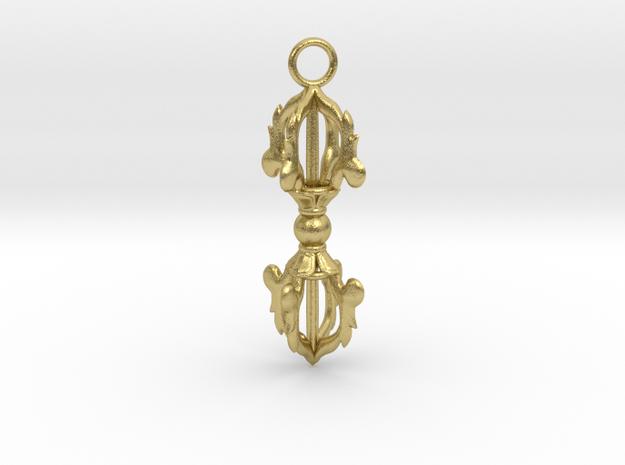 Vajra Pendant in Natural Brass