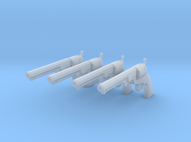 Colt 1851 1/18 scale 4 Pack in Smooth Fine Detail Plastic