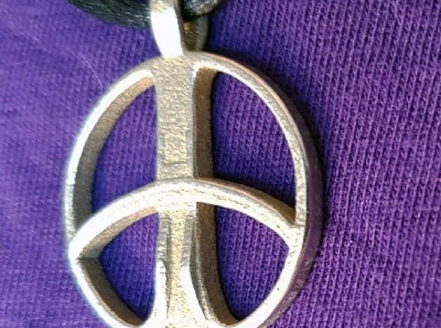XP Deus coil pendant in Polished Nickel Steel