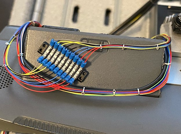 1:8 BTTF DeLorean dashboard wires terminal in Smoothest Fine Detail Plastic