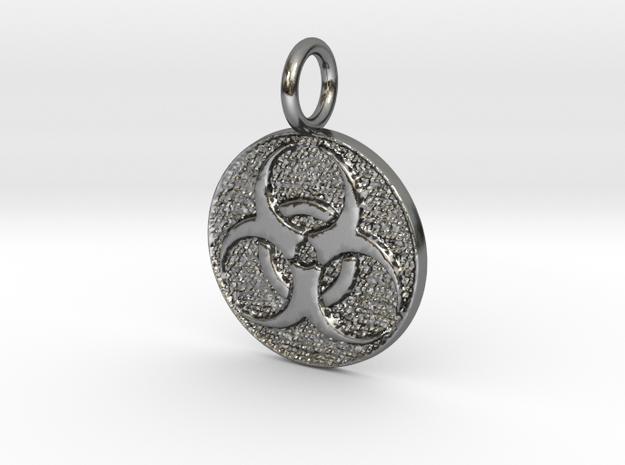 Hazmat kap in Polished Silver