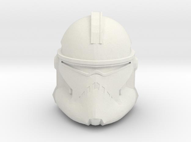 Neyo/Fordo/BARC Trooper Helmet   CCBS Scale in White Natural Versatile Plastic