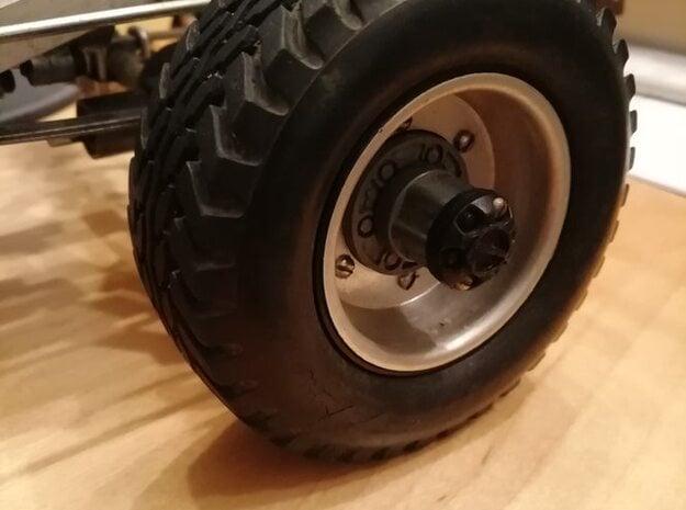 TAMIYA Toyota Hilux 58028 1.9 standard tire adapte in White Natural Versatile Plastic
