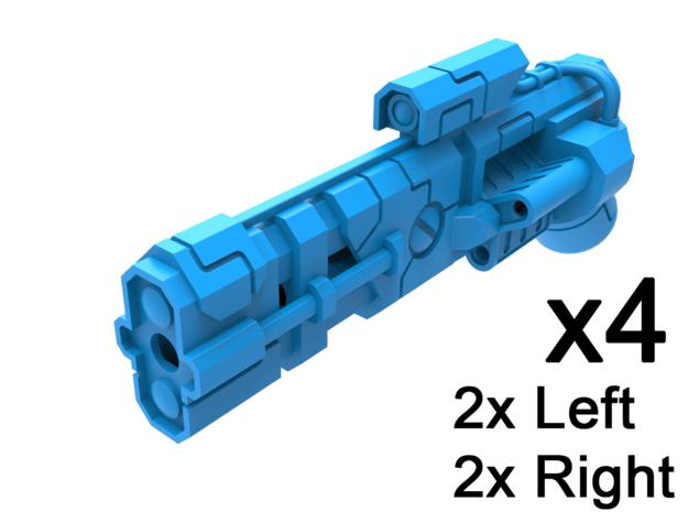 Standard Mech Light Energy Revolver, Set of 4 in Smooth Fine Detail Plastic