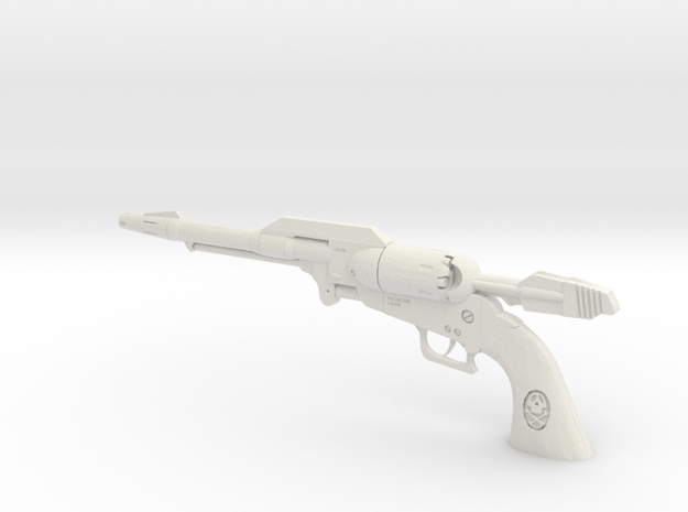 1/3rd Scale Capt Harlock Gun  in White Natural Versatile Plastic