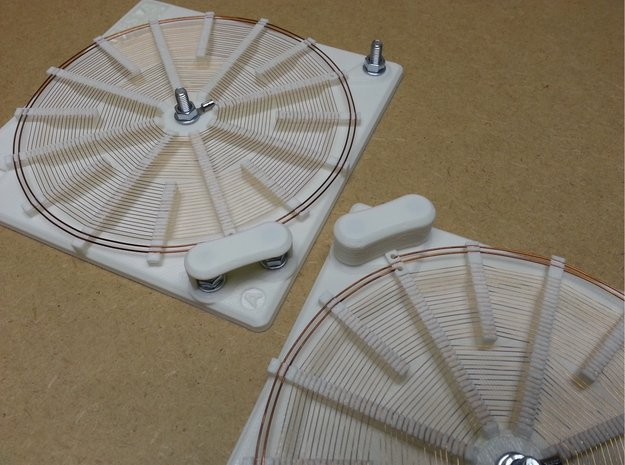 Screw Cover For 140mm Tesla Flat Spiral Coils in White Natural Versatile Plastic