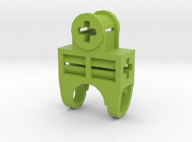 Lime Green Hand Ball Connector in Natural Full Color Sandstone