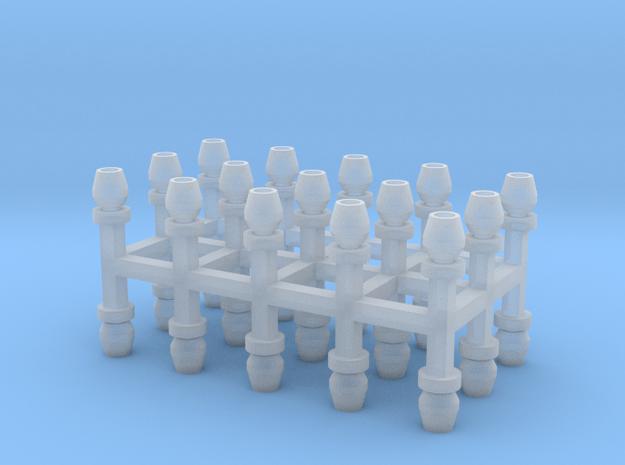 Sächsische Lüfter 30er Set Messing - 1:120 in Smooth Fine Detail Plastic