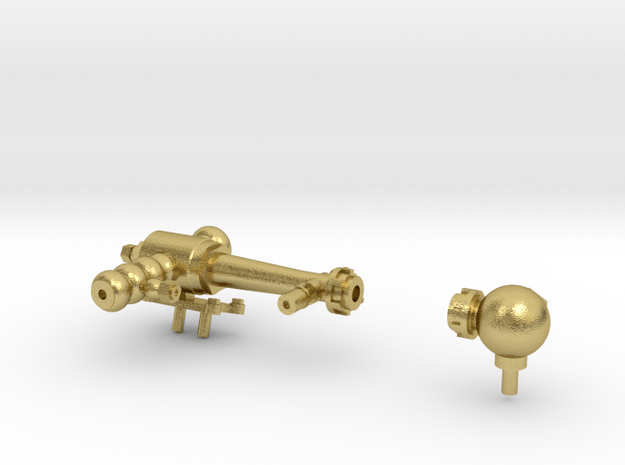 Early Steam Lifting Injector and Check Valve in Natural Brass: 1:20