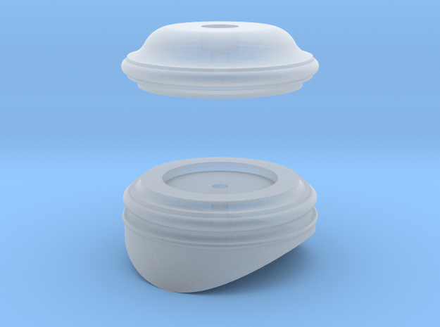 Early Baldwin Fluted Dome Top and Base in Smooth Fine Detail Plastic: 1:20